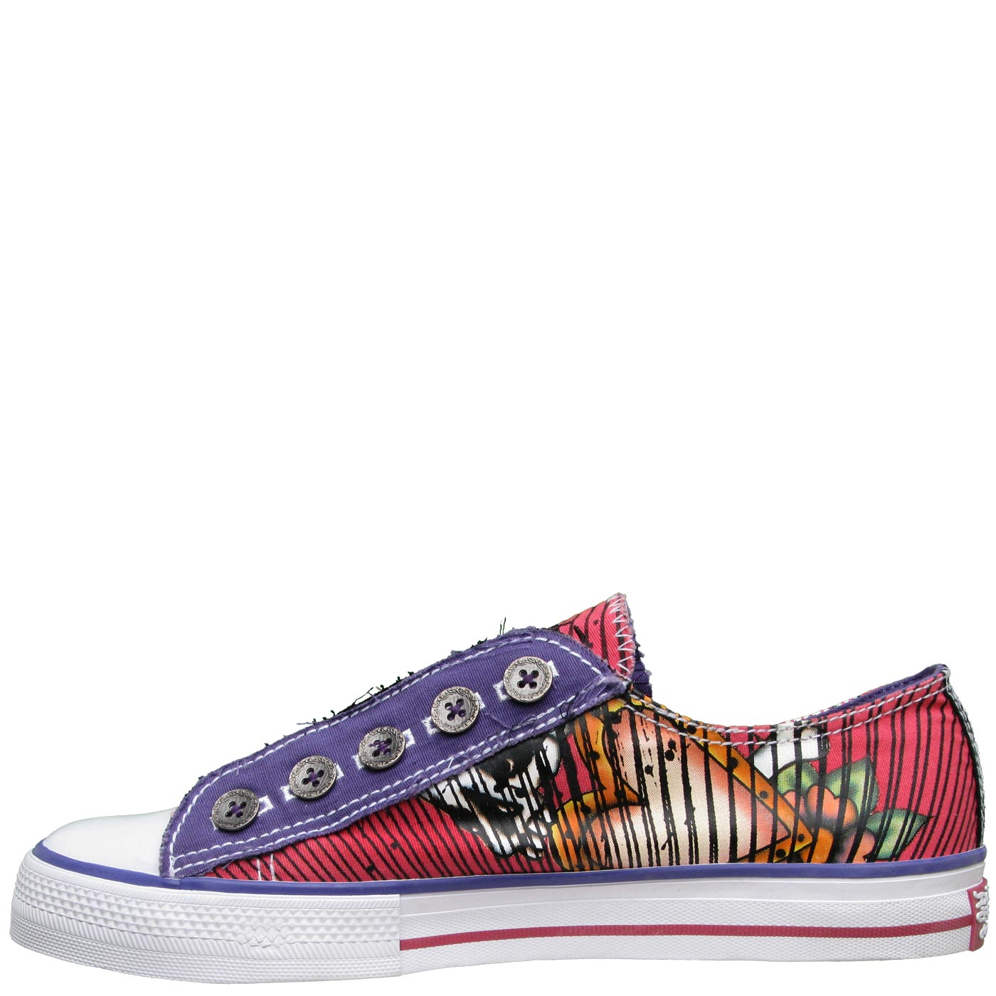 Ed Hardy Lowrise Harajuku Shoe for Women - Fuschia