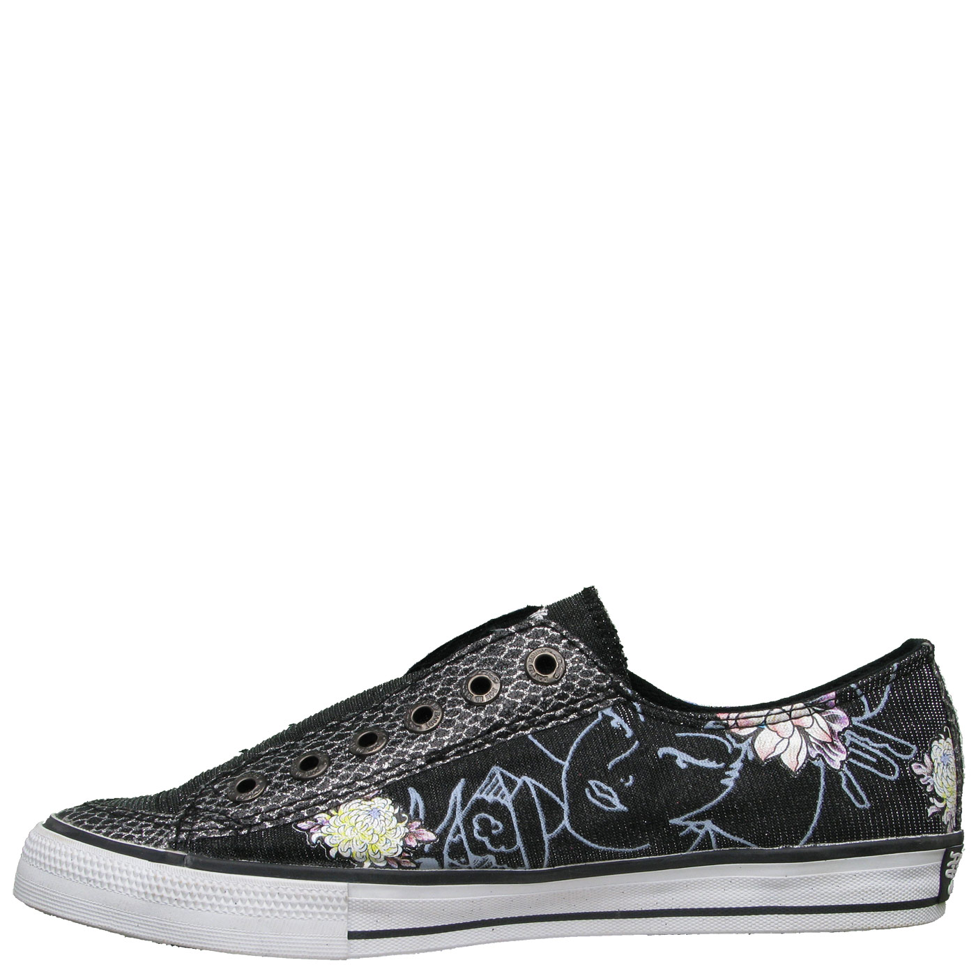 Ed Hardy Lowrise Glitter Shoe for Women - Black