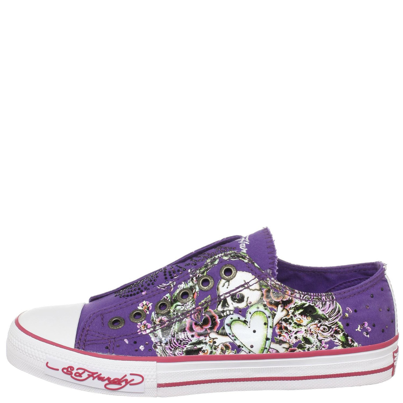 Ed Hardy Lowrise Stone Shoe for Kids Girls - Purple
