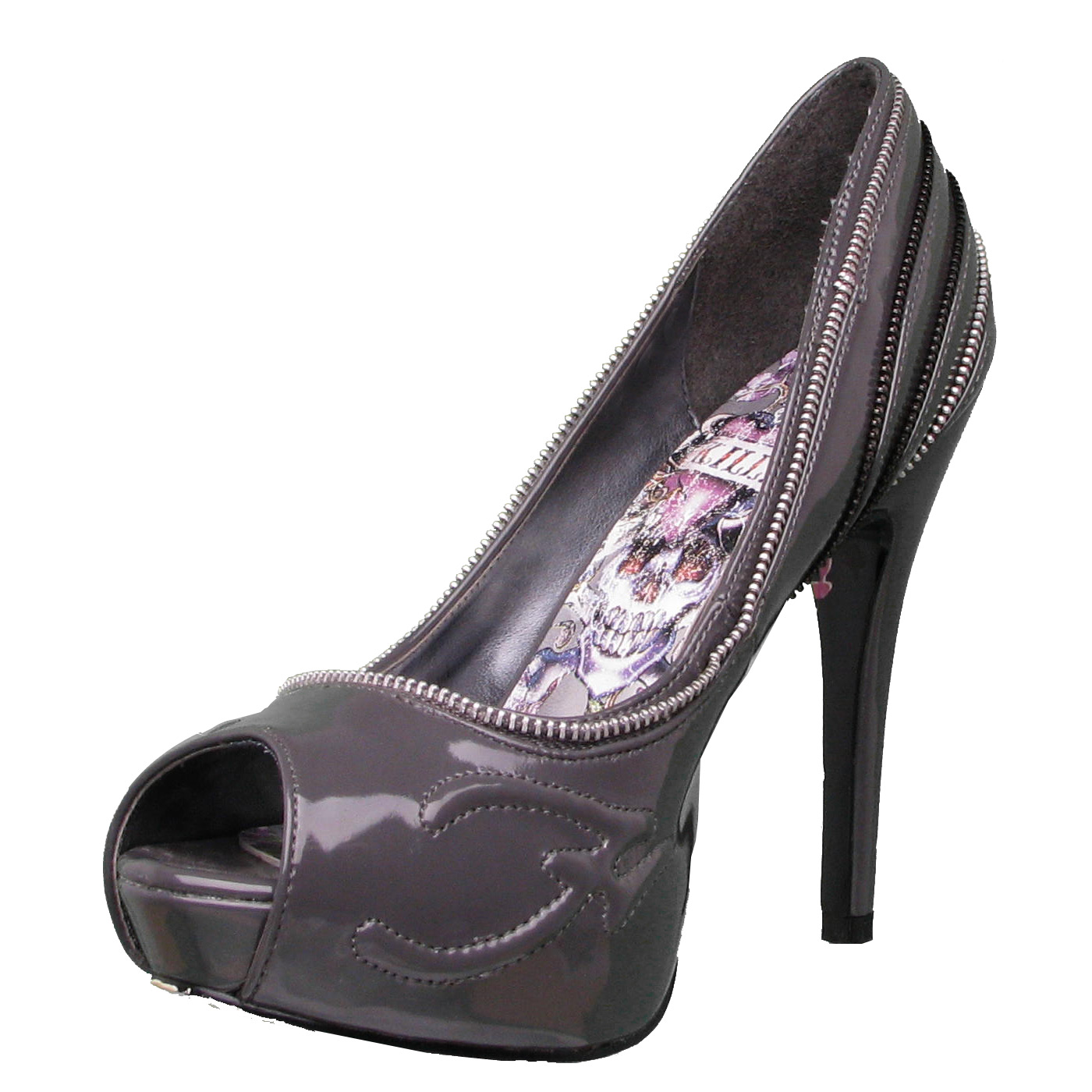 Ed Hardy Singapore Heel Shoe for Women - Grey