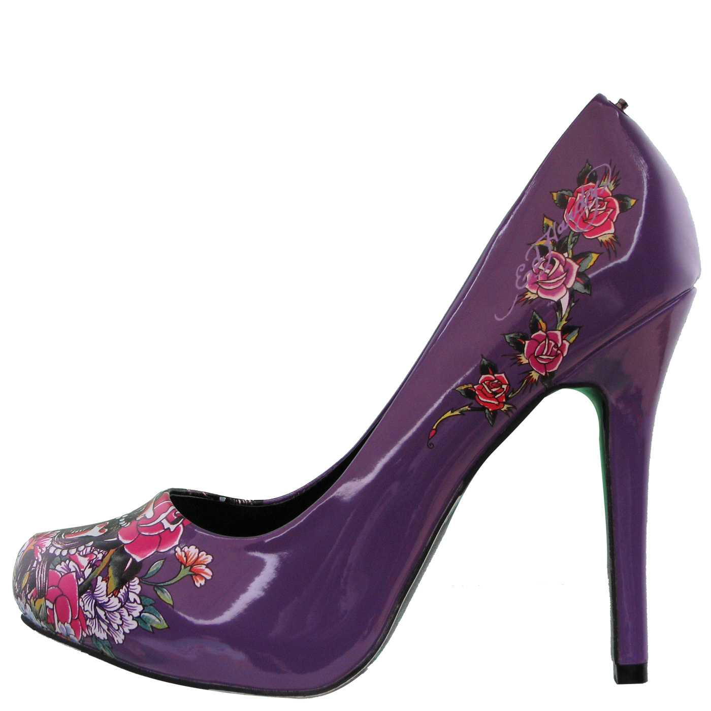 Ed Hardy Sunset Heel Shoe for Women - Purple