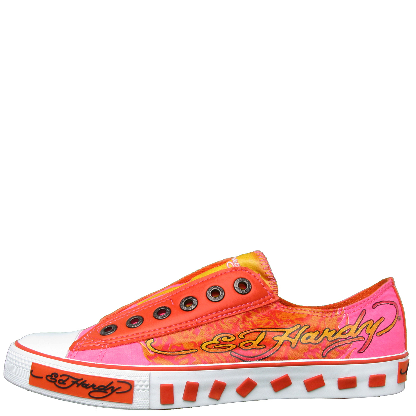 Ed Hardy Lowrise Van Nuys Shoe for Kids Girls - Orange