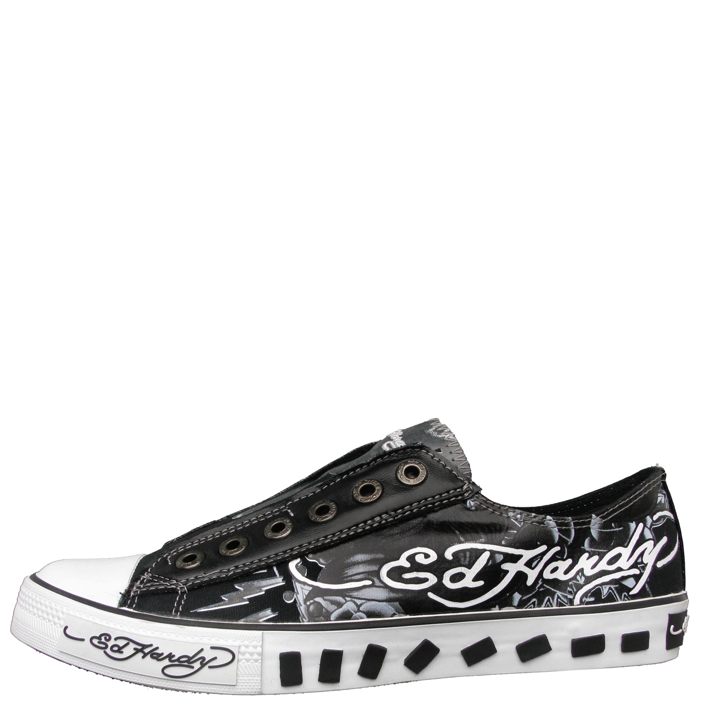 Ed Hardy Lowrise Van Nuys Shoe for Kids - Black