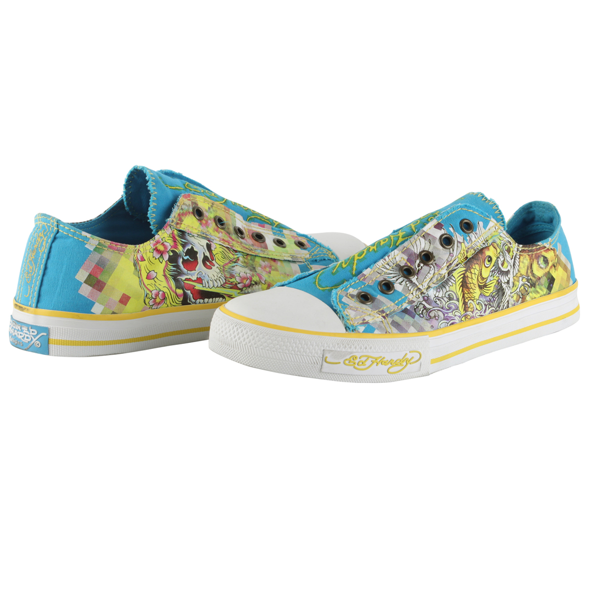 Ed Hardy Lowrise Oz Shoe for Men - Blue