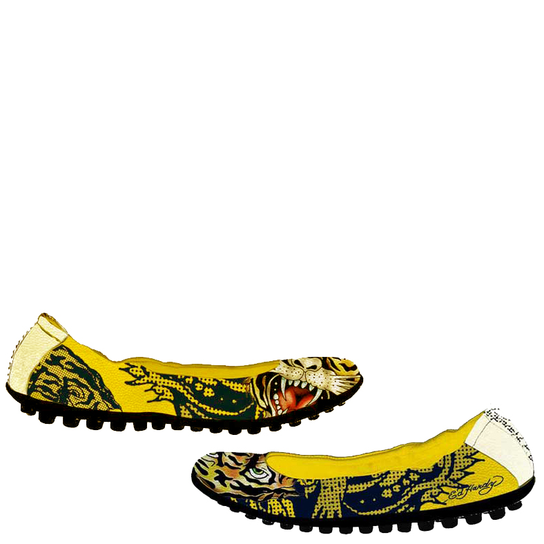 Ed Hardy Sao Paulo Shoe for Women - Yellow