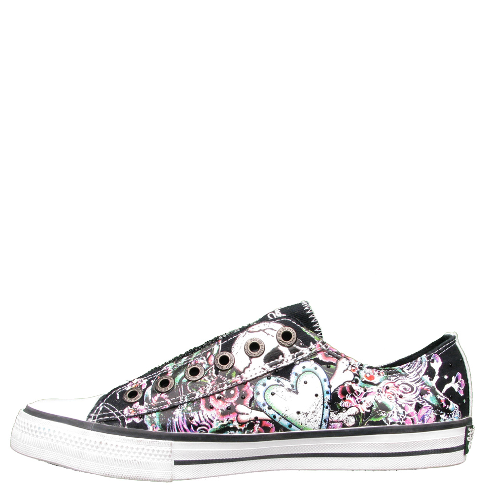 Ed Hardy Lowrise Stone Shoe for Women - Black