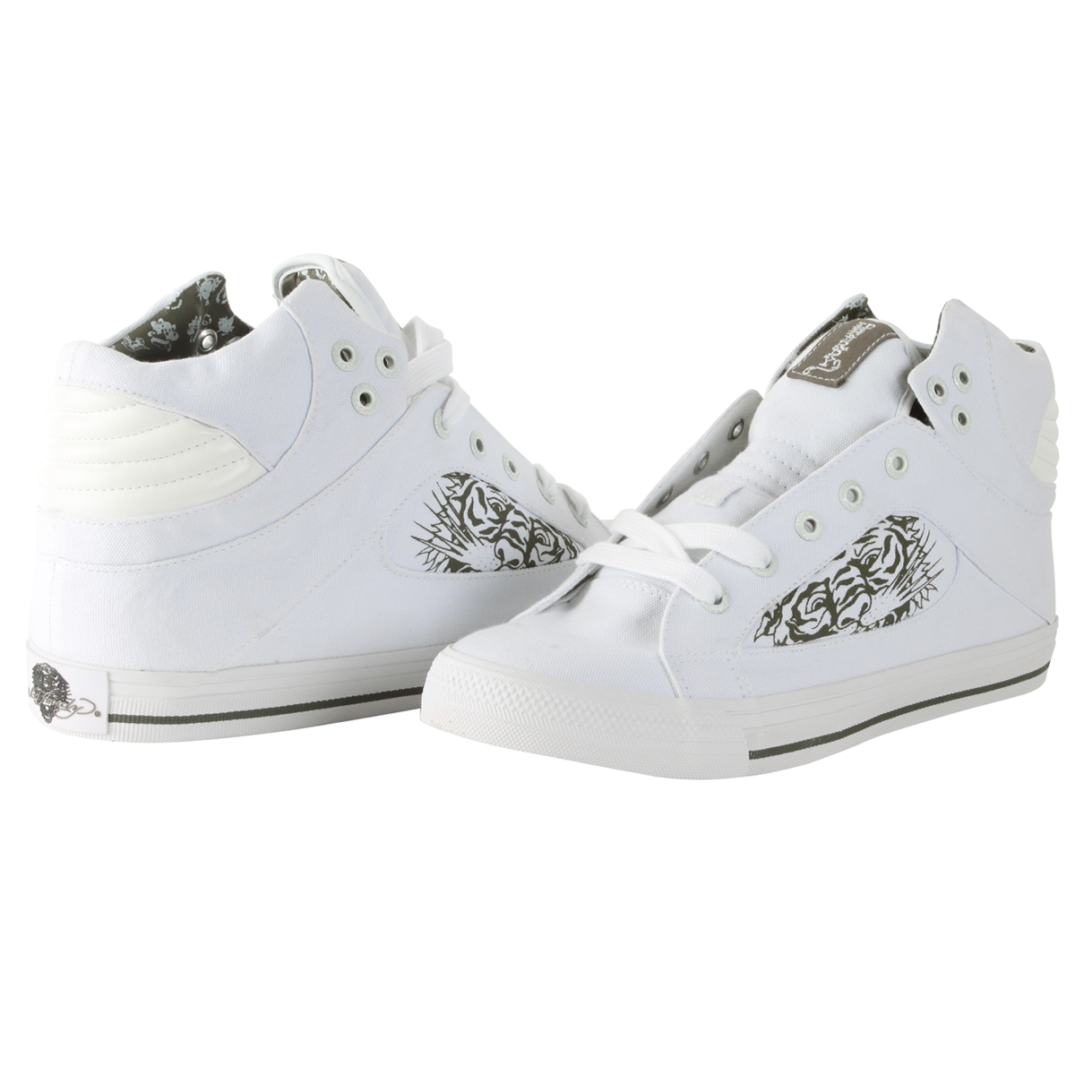 Ed Hardy Pendelton Highrise Shoe for Men - White