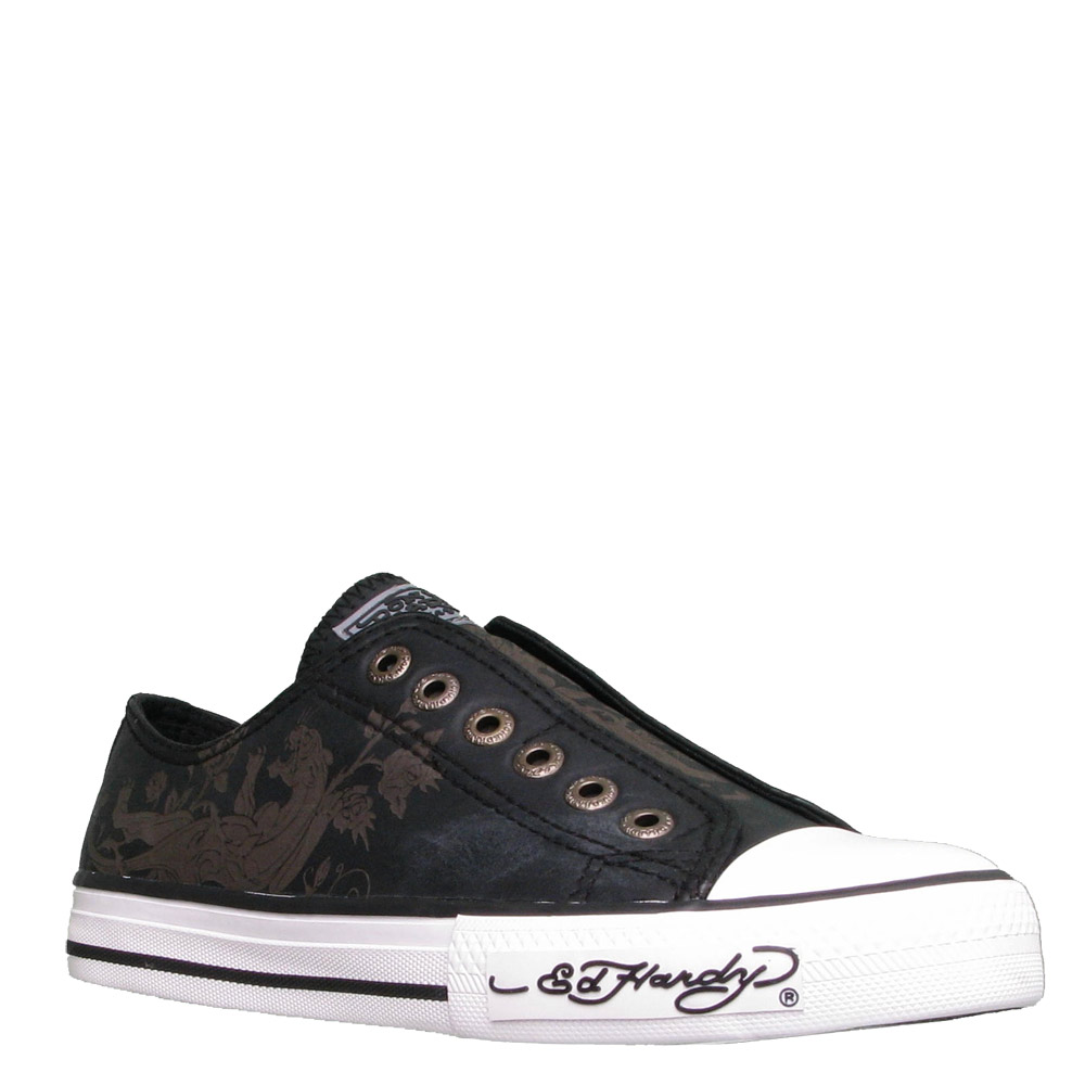Ed Hardy Lowrise Chalken Shoe for Women -Black