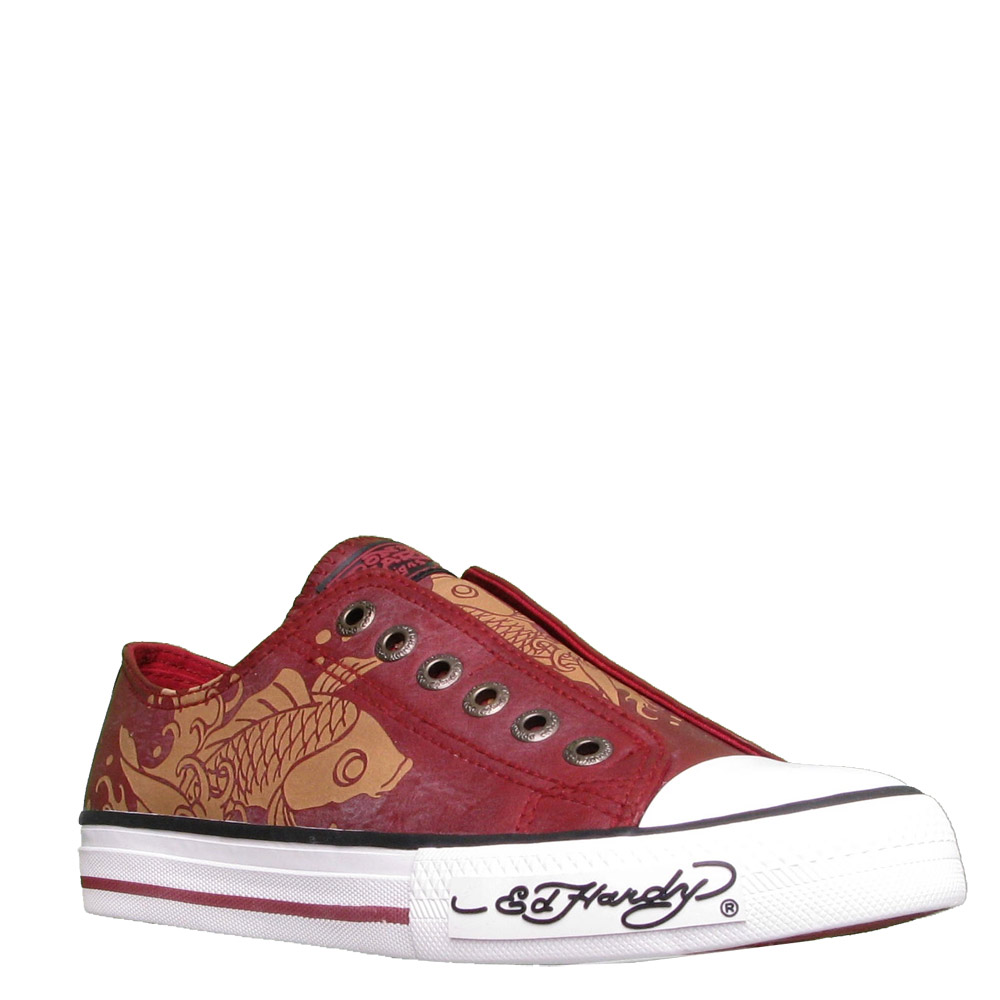 Ed Hardy Lowrise Chalken Shoe for Women -Burgundy