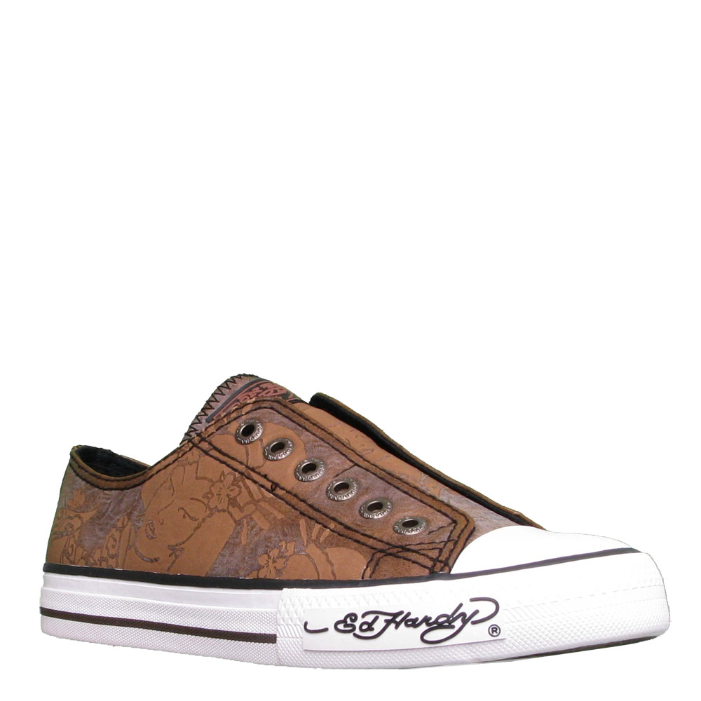 Ed Hardy Lowrise Chalken Shoe for Women -Brown