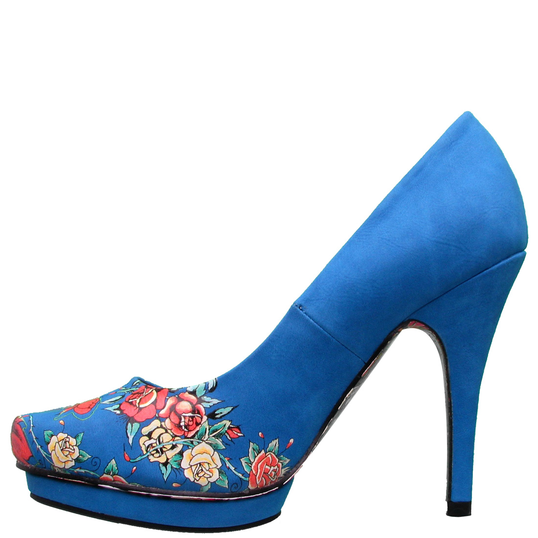 Ed Hardy Dirty Gold Pump Shoe for Women - Blue