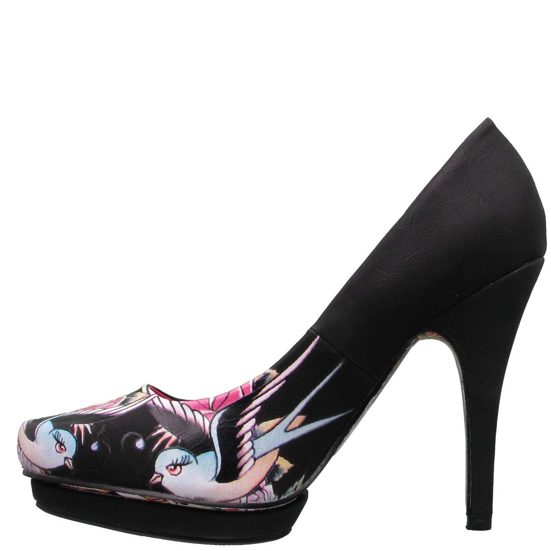 Ed Hardy Dirty Gold Pump Shoe for Women - Black