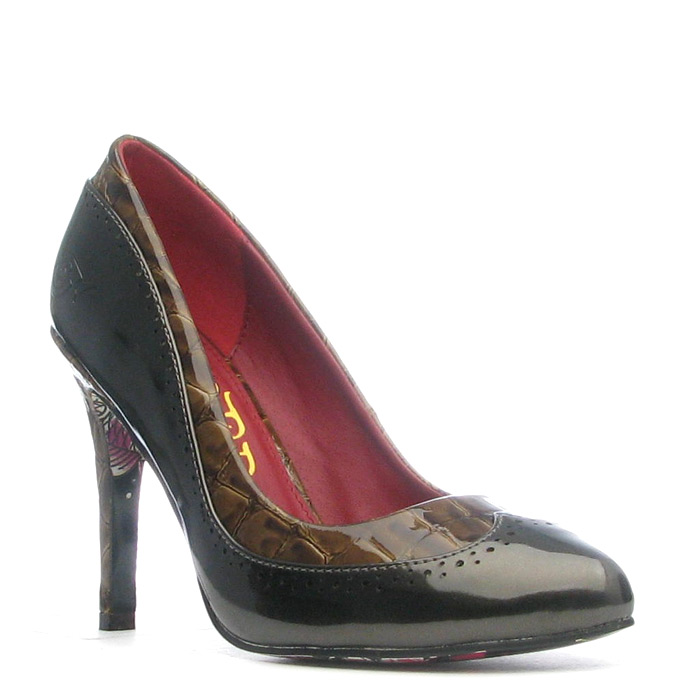Ed Hardy Holly Heel Shoe for Women - Brown