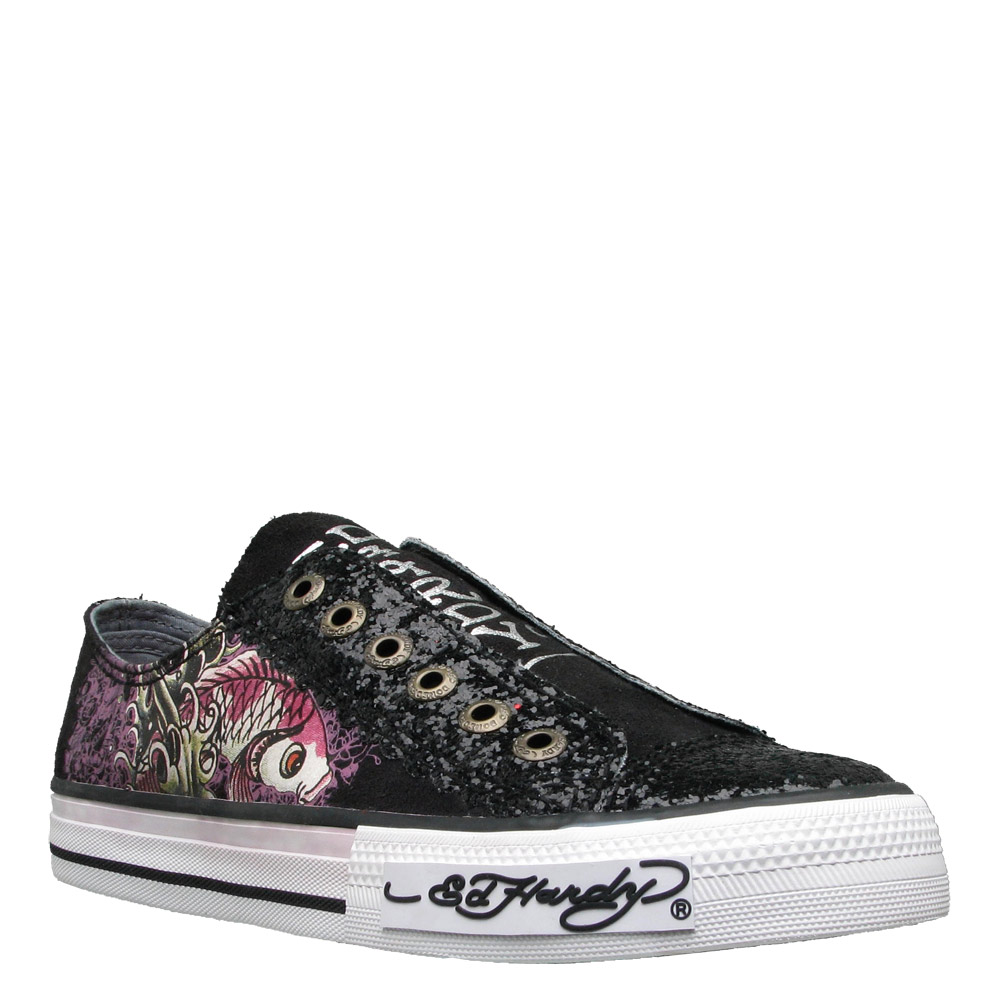 Ed Hardy Lowrise Glitter Shoe for Women -Black