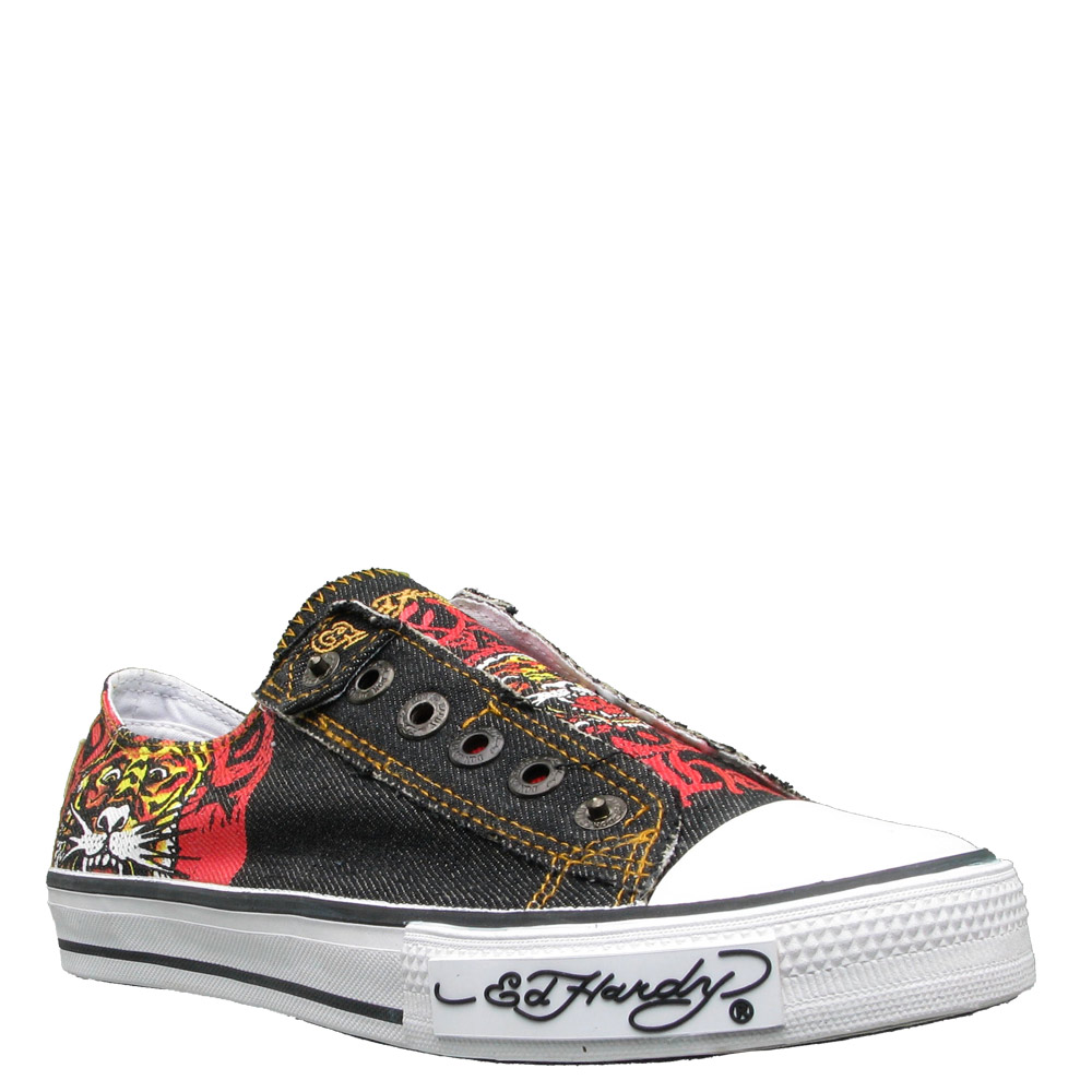 Ed Hardy Lowrise Zephyr Shoe for Women -Black