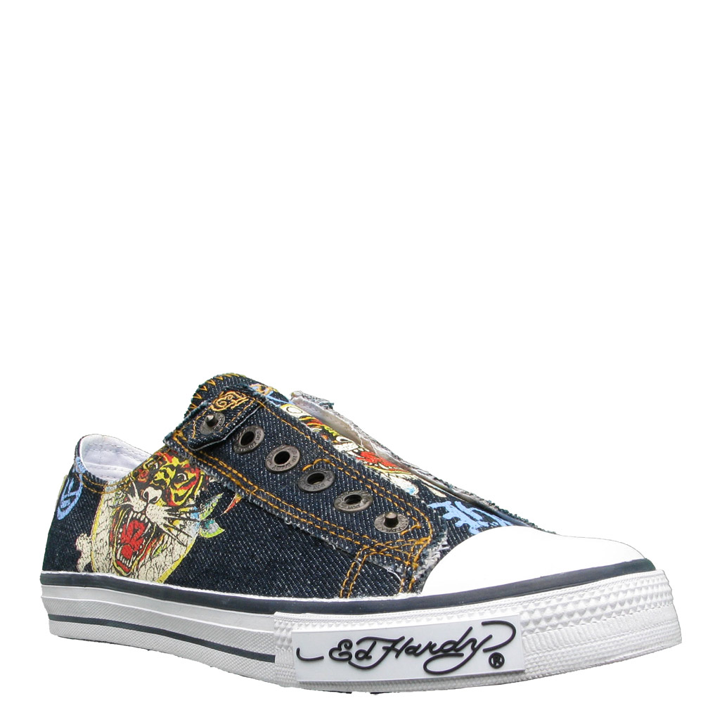 Ed Hardy Lowrise Zephyr Shoe for Women -Indigo