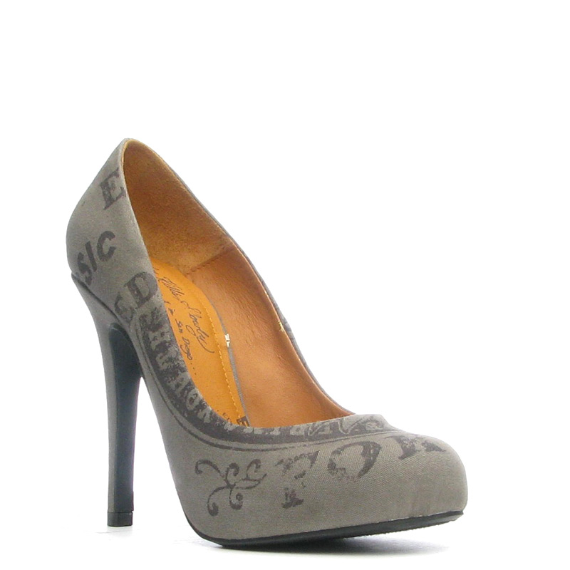 Ed Hardy Mato Heel Shoe for Women - Olive