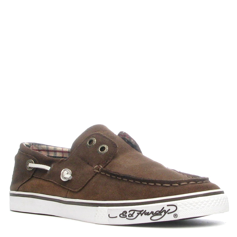 Ed Hardy Nalo Shoe for Men - Brown