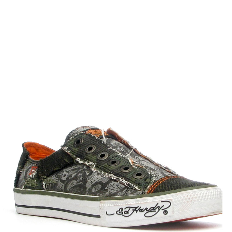 Ed Hardy Lowrise Oakland Shoe for Women -Military