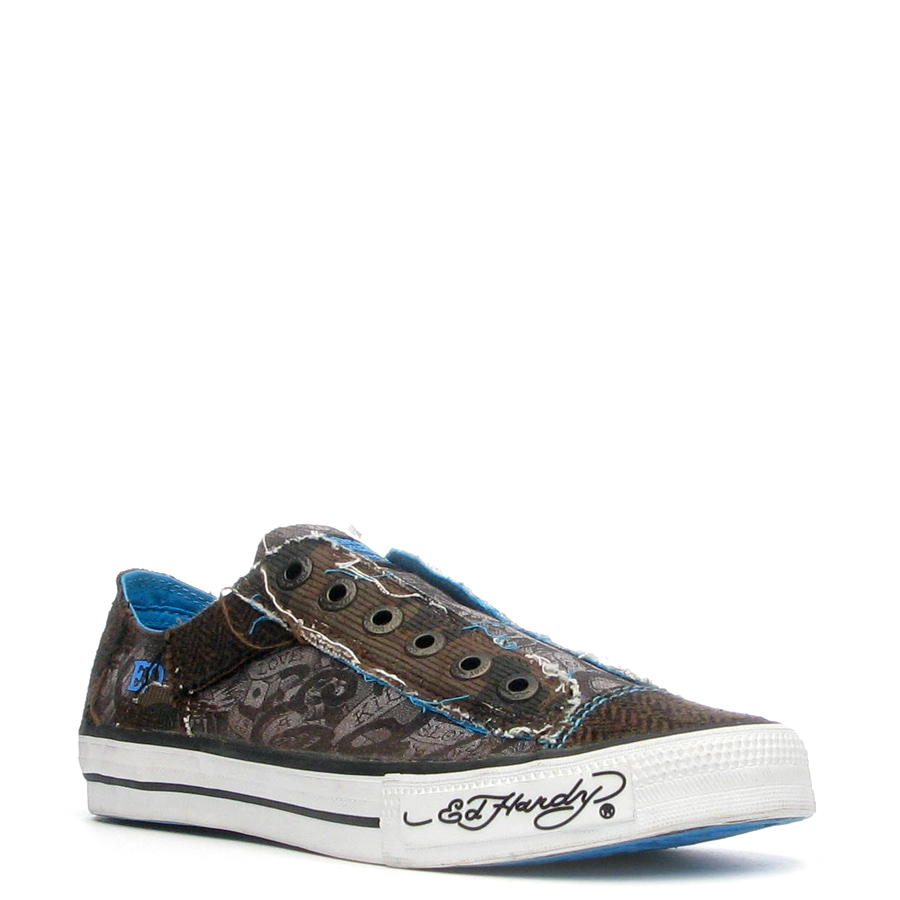 Ed Hardy Lowrise Oakland Shoe for Women -Brown