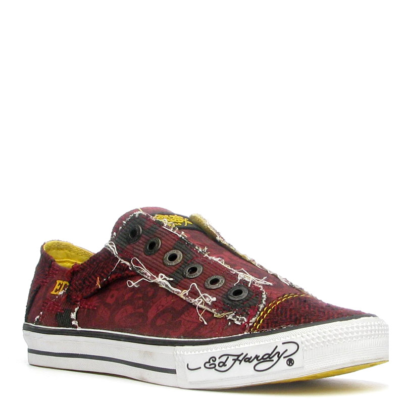 Ed Hardy Lowrise Oakland Shoe for Men- Red