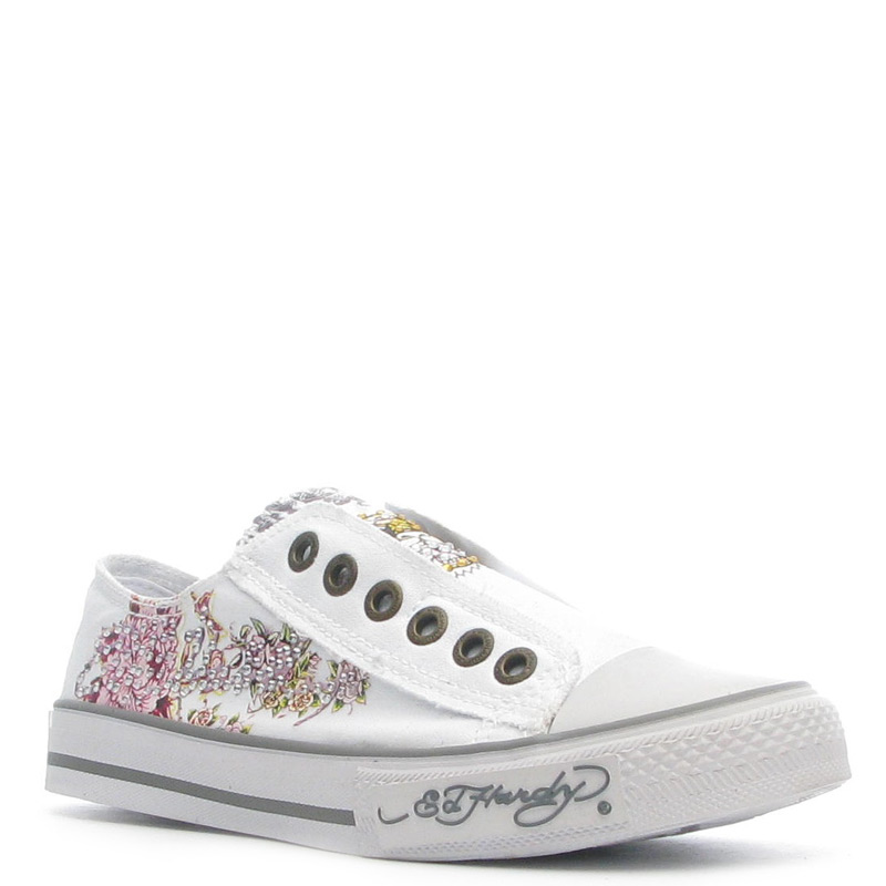 Ed Hardy Lowrise Starlight Shoe for Women -White
