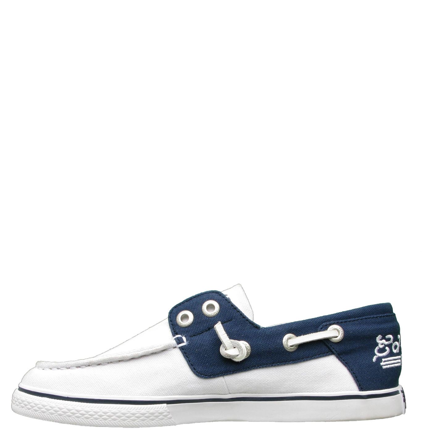 Ed Hardy Del Mar Boat Shoe for Women - White