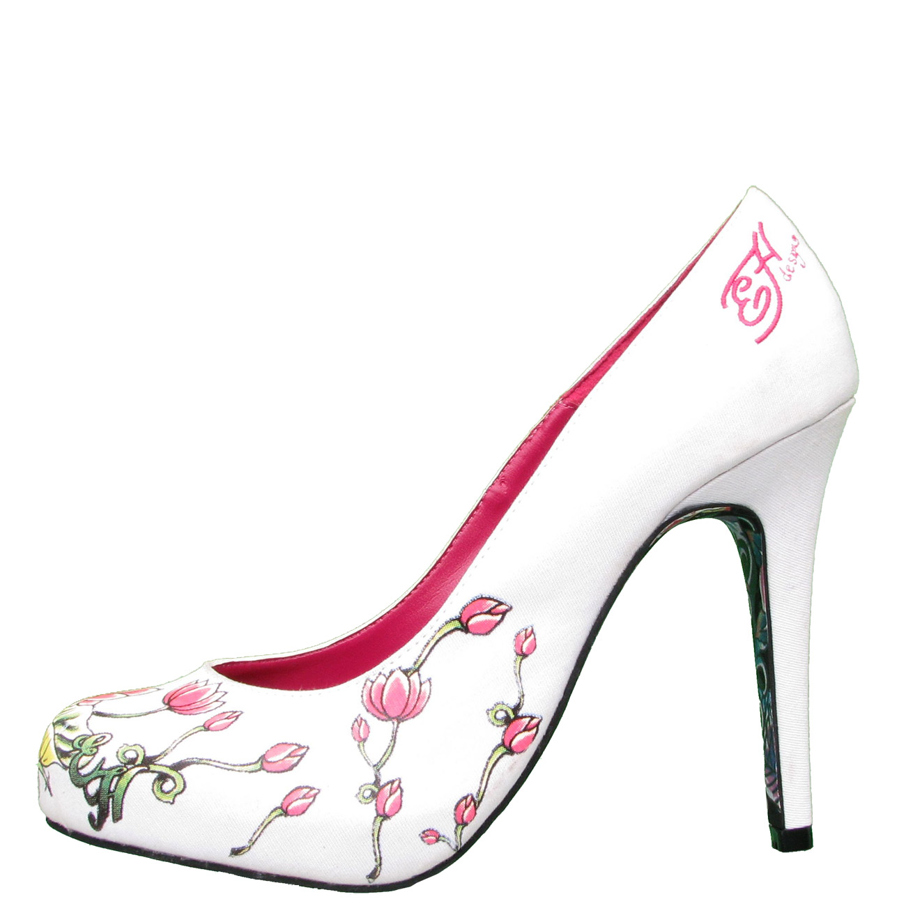 Ed Hardy Haute Floral Pump Shoe for Women - White