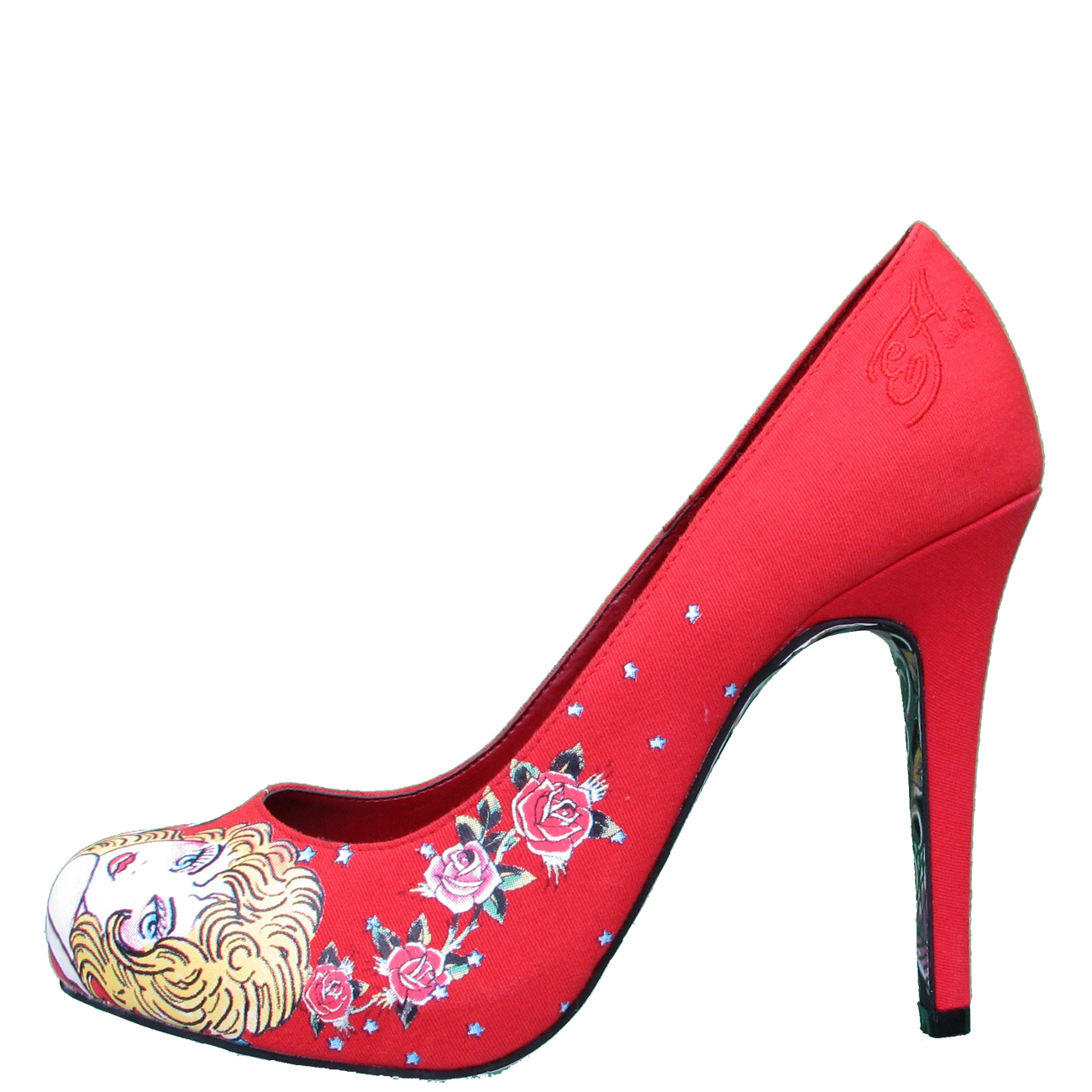 Ed Hardy Haute Pump Shoe for Women - Red