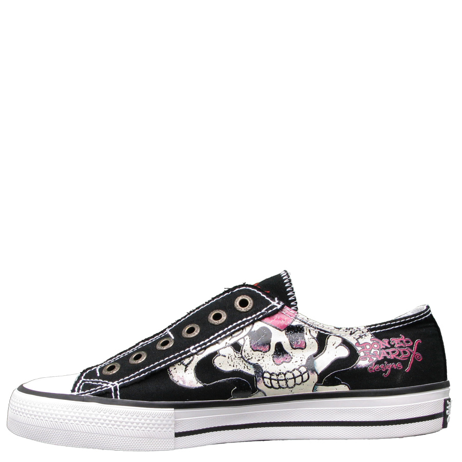 Ed Hardy Lowrise Love Kills Slowly Sneaker for Women - Black