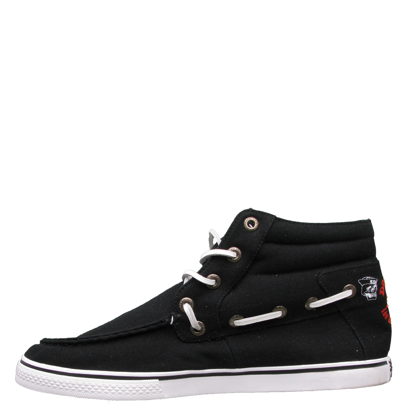 Ed Hardy La Paz Highrise Boat Shoe for Men - Black