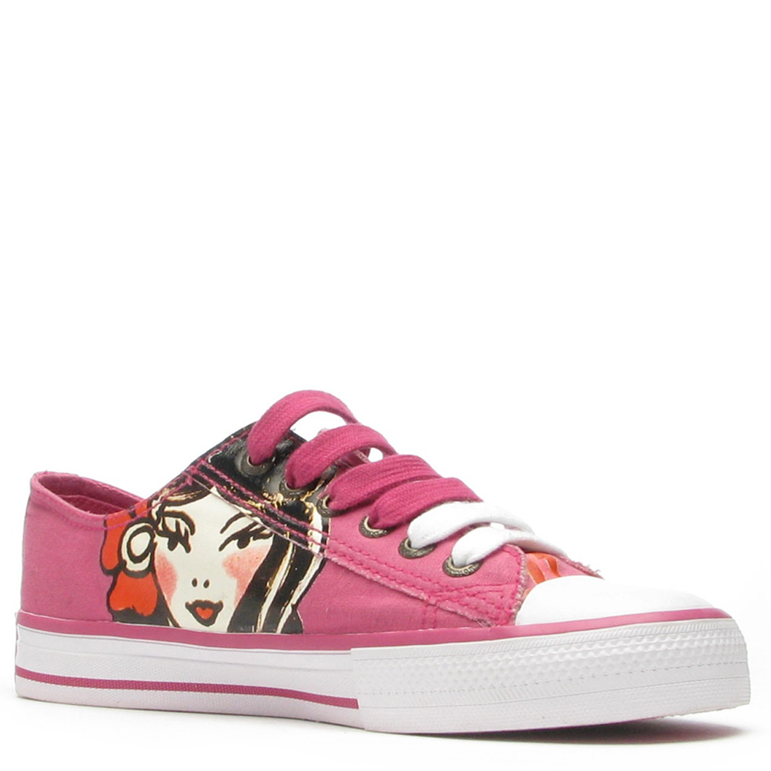 Ed Hardy Lowrise Bela Sneakers for Women- Fuschia