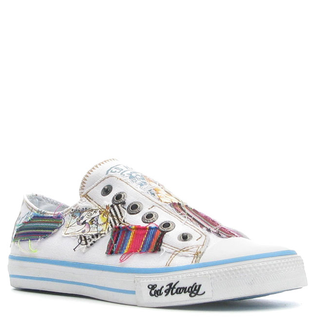 Ed Hardy Lowrise Rhyder Shoe for Men - White