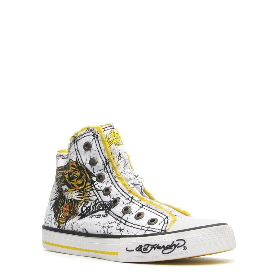 Ed Hardy Highrise Sneaker for Men - White