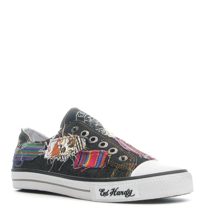Ed Hardy Lowrise Rhyder Shoe for Men -Black