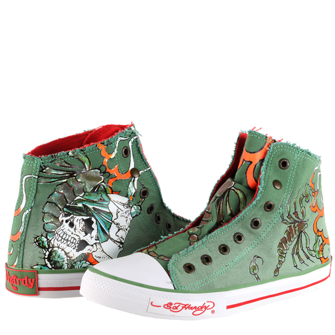 Ed Hardy Highrise Sneaker for Men - Military