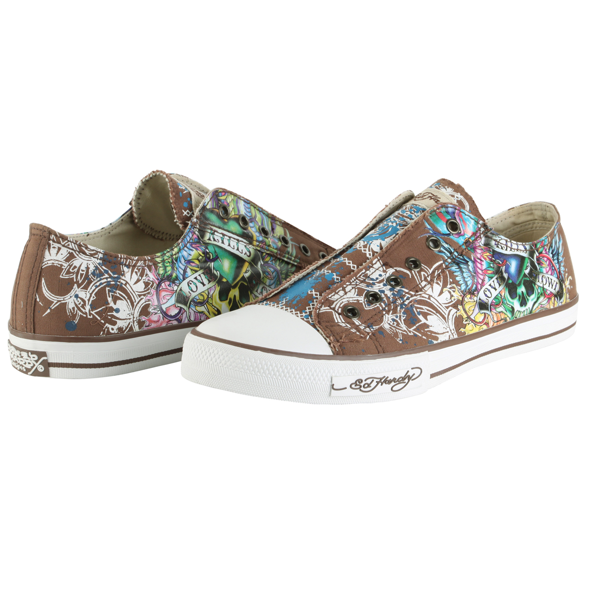 Ed Hardy Lowrise 100 Shoe for Men - Chocolate