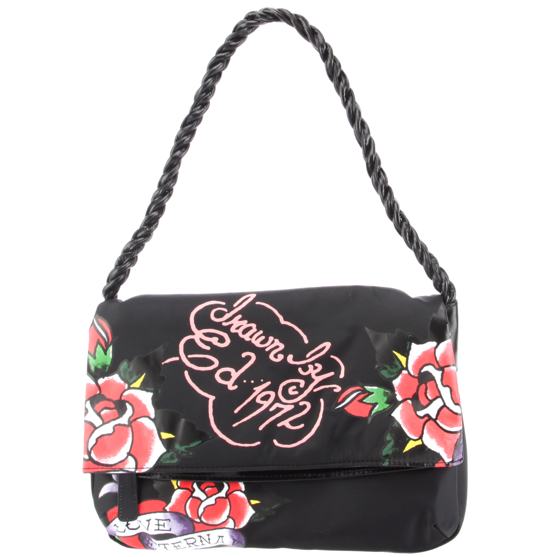 Ed Hardy Amantha Shoulder Tote -Black