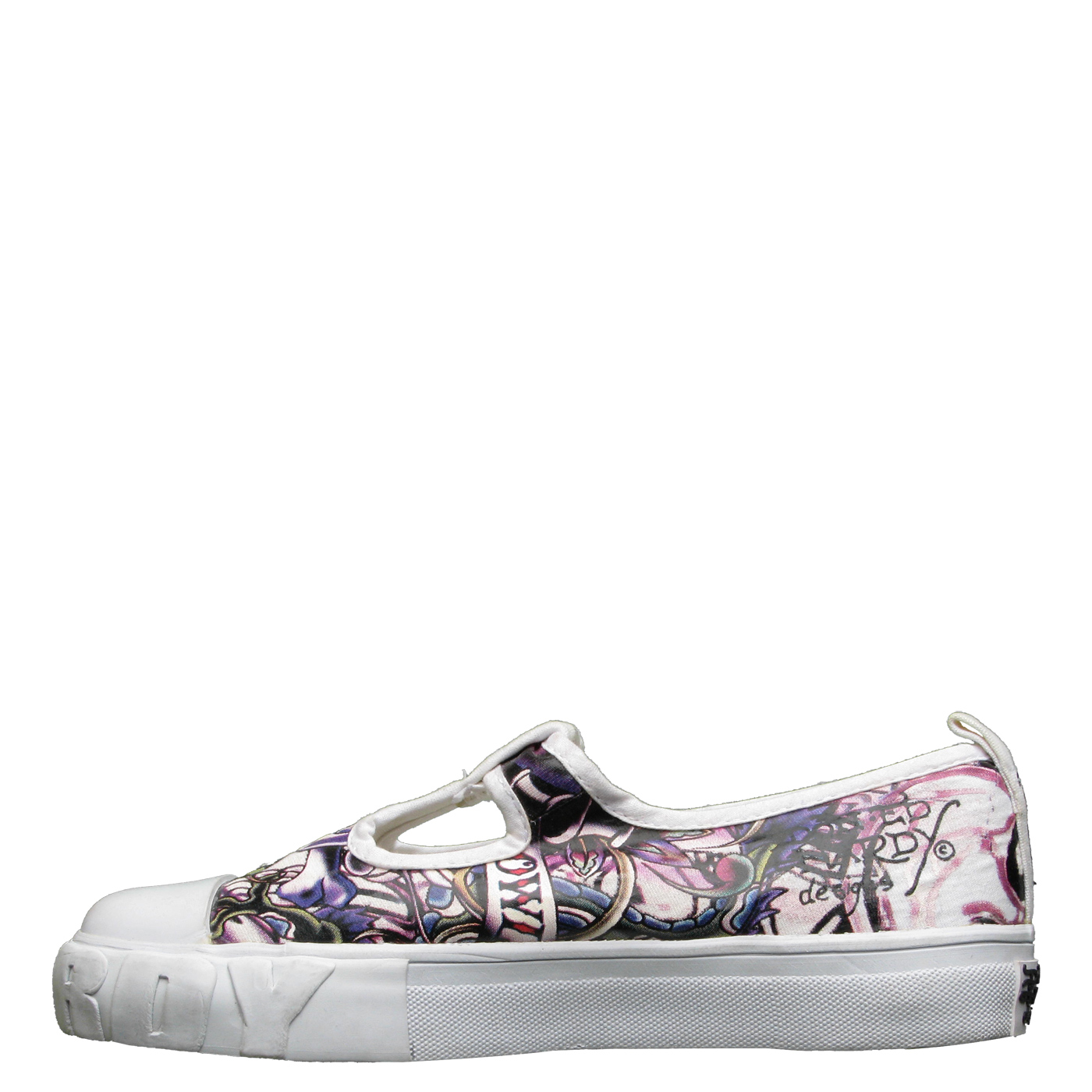 Ed Hardy Candyland Shoe for Kids Girls - White