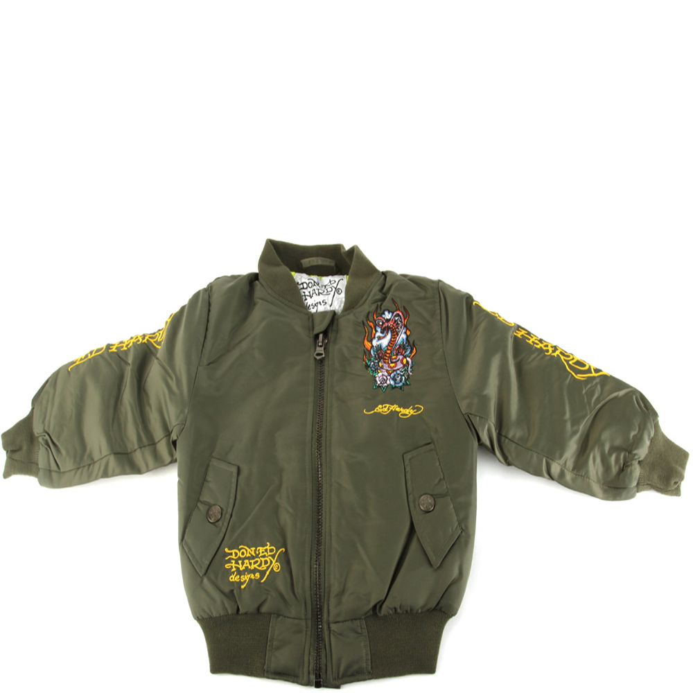Ed Hardy Kids Cobra Jacket - Khaki