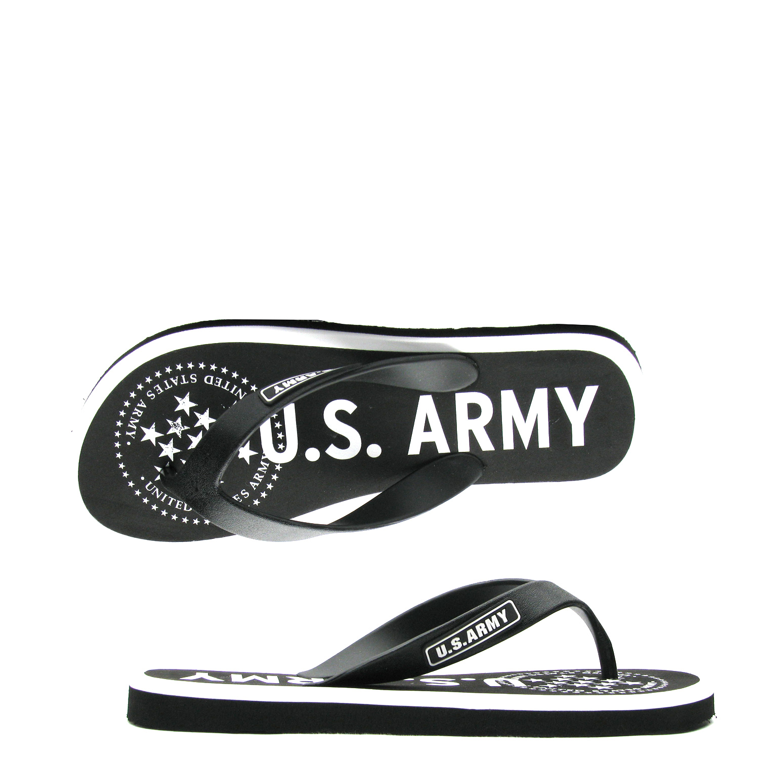 US Army Desert Sand Mens Sandal – Black
