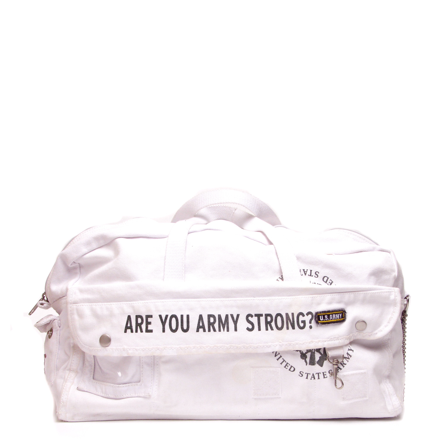 US Army Drum Duffle Bag – White