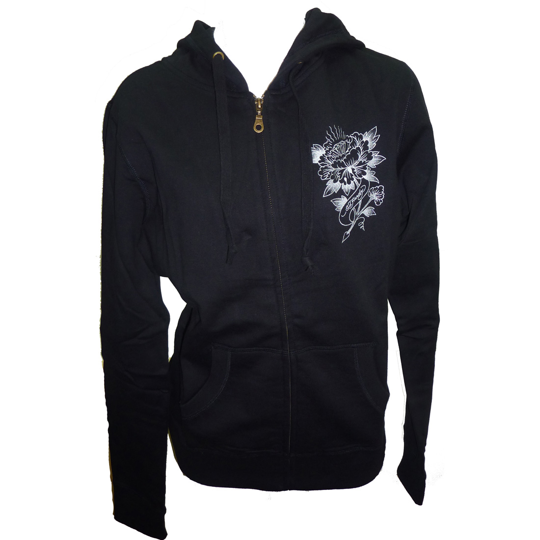 Ed Hardy Womens Core Basic Hoodie - Heather Black