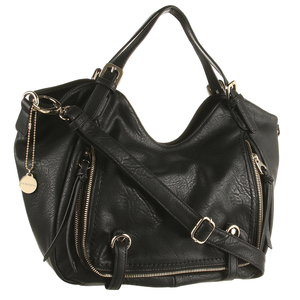Big Buddha Roma Satchel Bag- Black