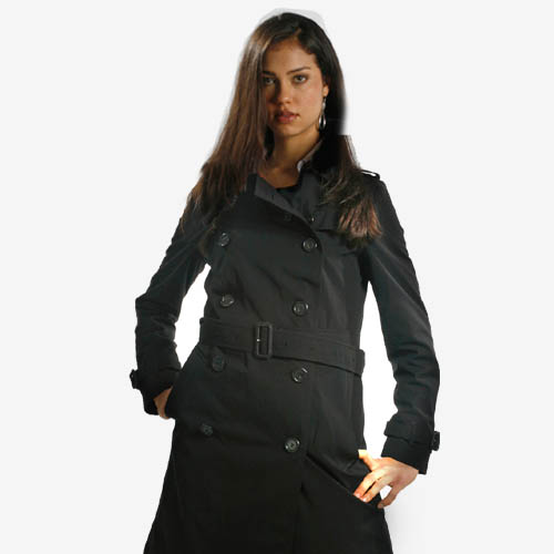 Burberry Belted Trench Coat - Black