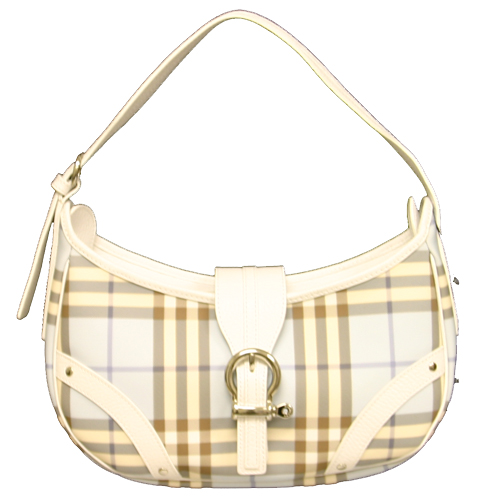 Burberry Blue/White Check Destiny Small Handbag