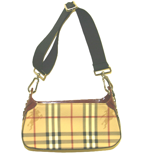 Burberry Classic Check Cross Shoulder Bag - Red