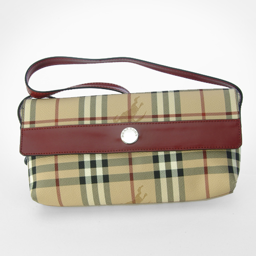 Burberry Classic Check Monica Bag - Red