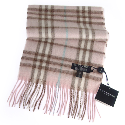 Burberry Cashmere Candy Pink Plaid Mini Scarf