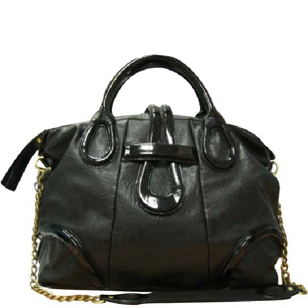 GEN141GA Gia Medium Satchel - Black